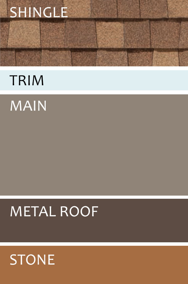mini gray and brown siding color chart