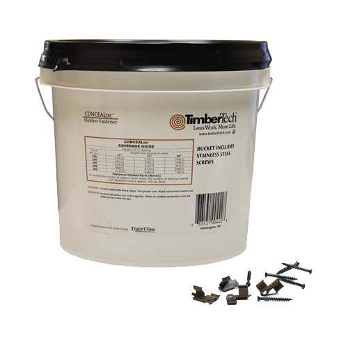 concealoc by Timbertech extra large bucket of hidden deck fasteners