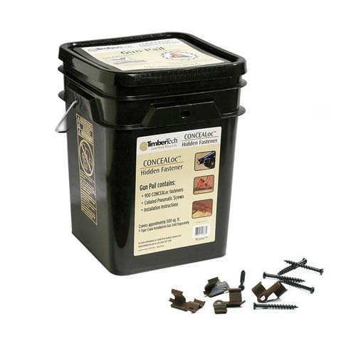 concealoc hidden deck fasteners large bucket by Timbertech