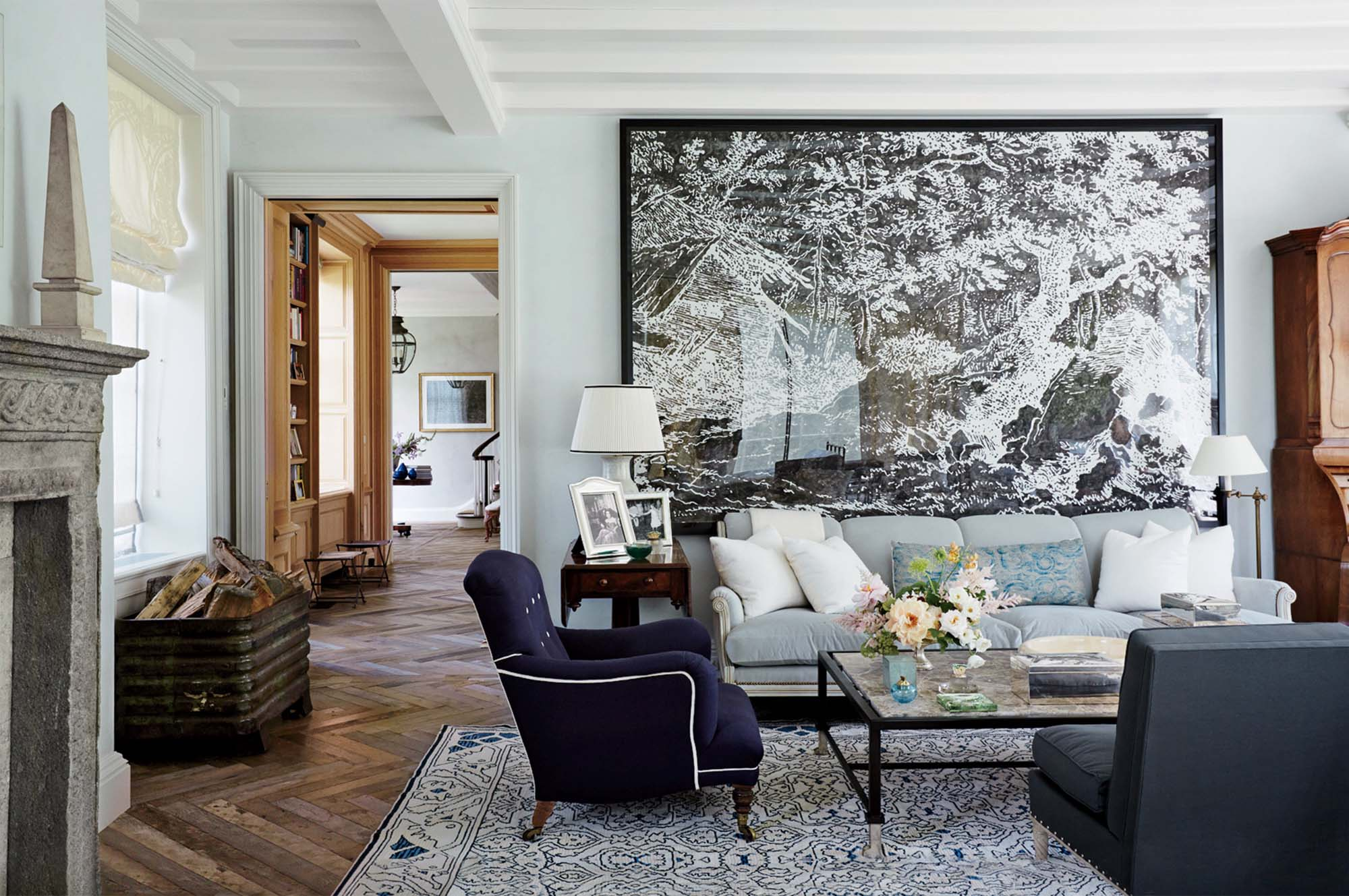 beautiful feng shui color scheme stunning living room blue and white hardwood floors