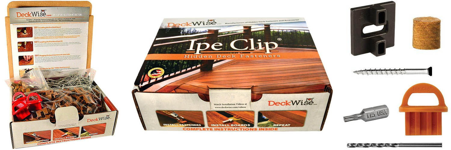 Ipe hidden deck fastener kit