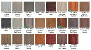 Trex Decking Color Chart 1 Top Nj New Home Builder