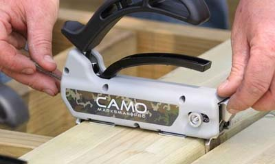 hidden deck fasteners by camo marksman pro x1 tool loading with screws installation