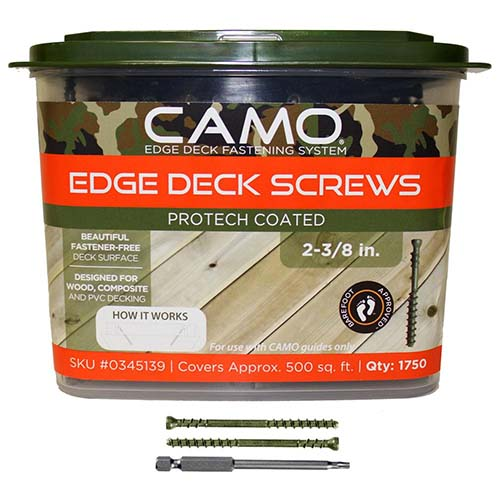 camo hiddendeck fastener protech coated screws 1750 pcs bucket