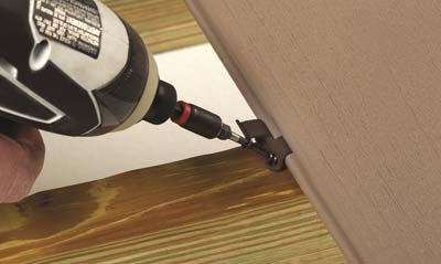 concealoc deck fasteners being installed with a drill