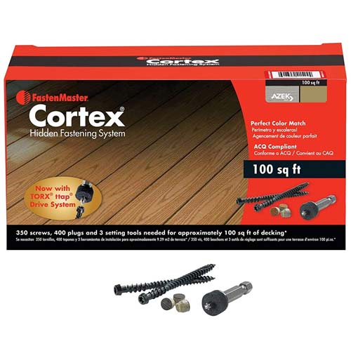 cortex hidden deck fastening system small box of 100 sq ft