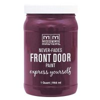 purple front door paint for homes with red brick
