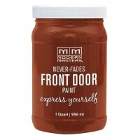 red orange front door paint