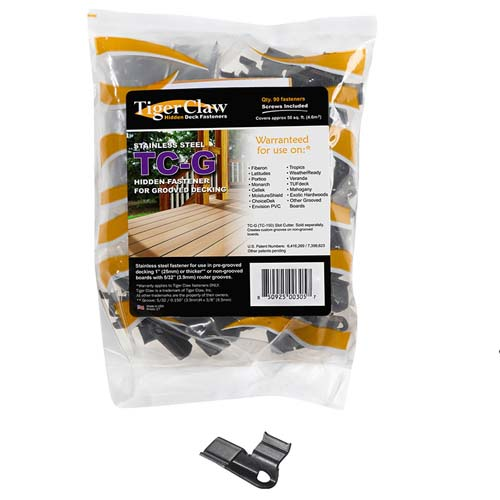 Tigerclaw hidden decking fasteners bag of clips