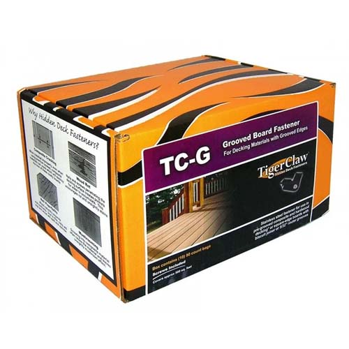 Tigerclaw hidden deck fasteners box of clips