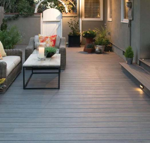 Trex vs Timbertech custom built timbertech deck with gray decking