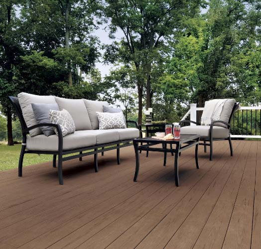 Trex vs Timbertech custom built timbertech deck with brown decking