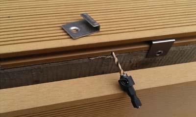 Trex hideaway hidden deck fastening system edge board L clips starter clips