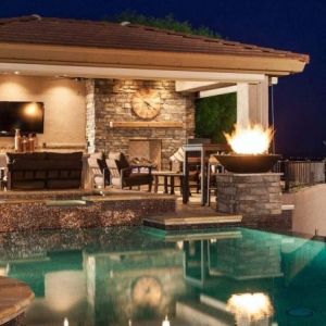 small pool house designs real stone chimney with outdoor fireplace stone patio