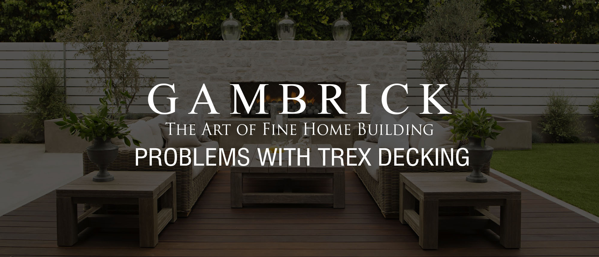 Problems With Trex Decking Banner 1 Top Nj New Home Builder