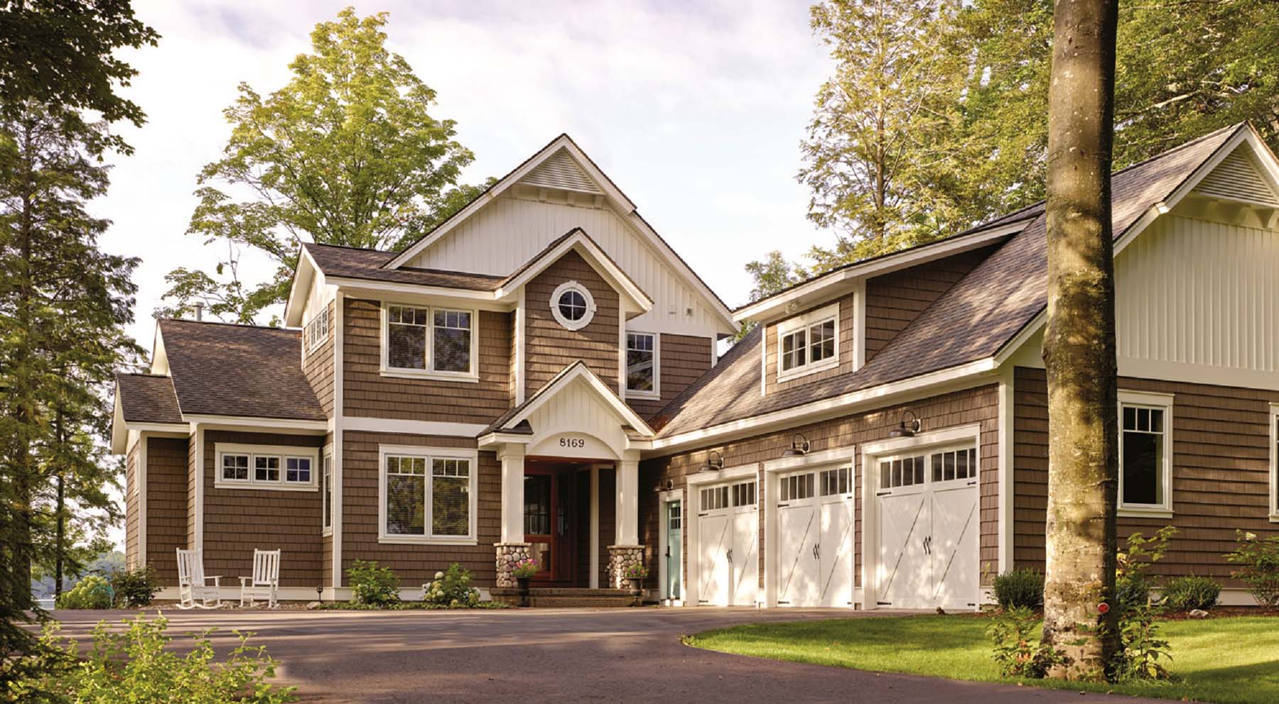 best siding color for resale value brown with white trim real stone and a dark brown front door