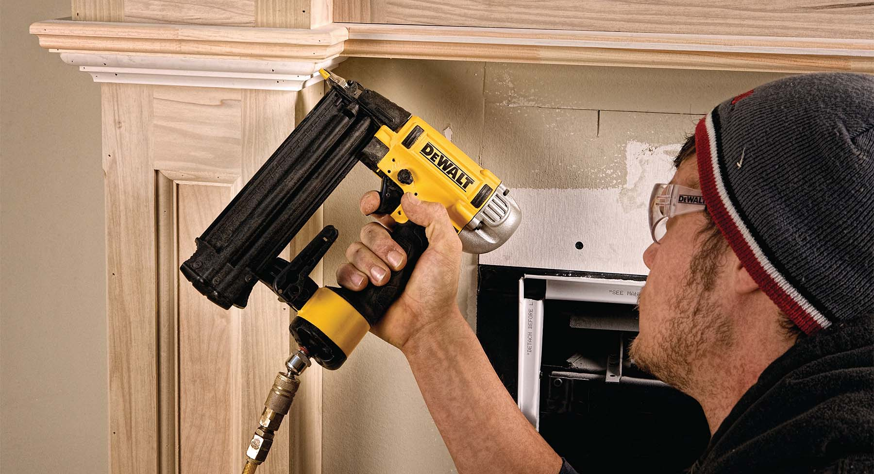 what is a brad nail building a wood fireplace surround with a brad nailer