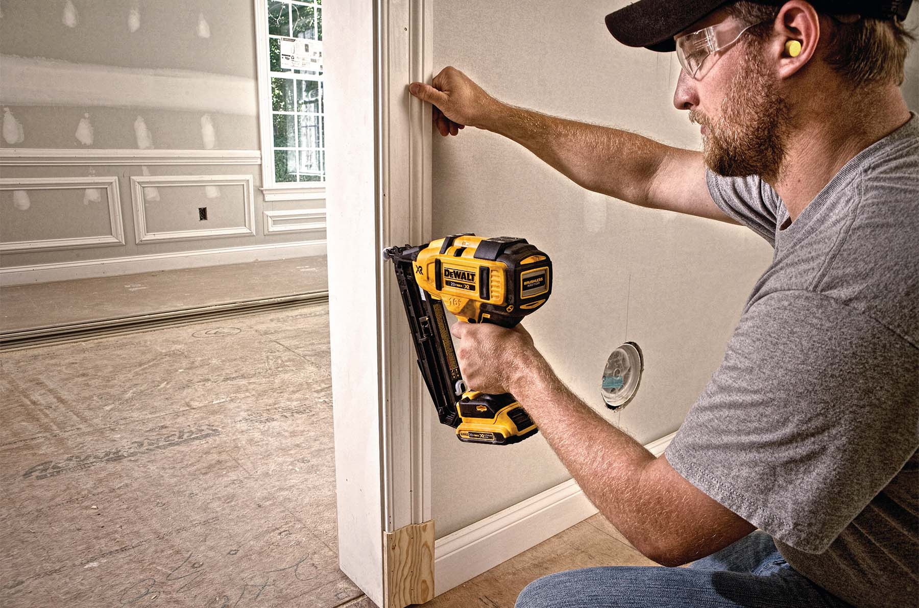 what are brad nails brad nailer used to install trim molings closeup pic