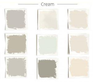 cream garage door paint color chart with red brick