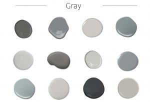 gray garage door paint color chart with red brick