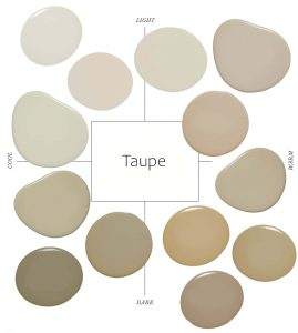 taupe garage door paint color chart with red brick