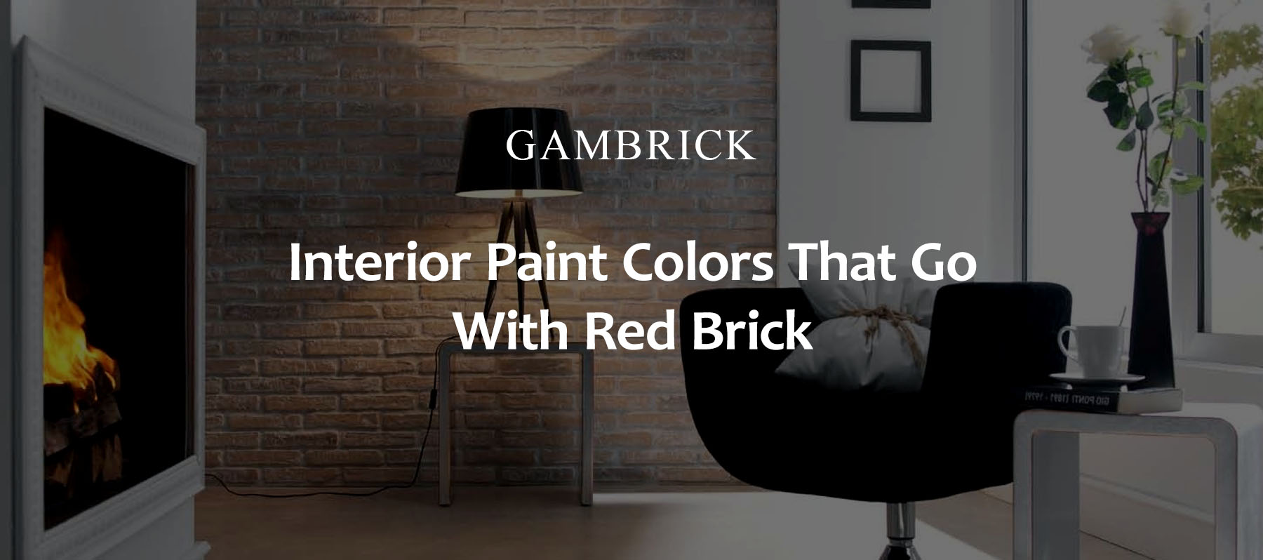 interior paint colors that go with red brick banner pic | Gambrick