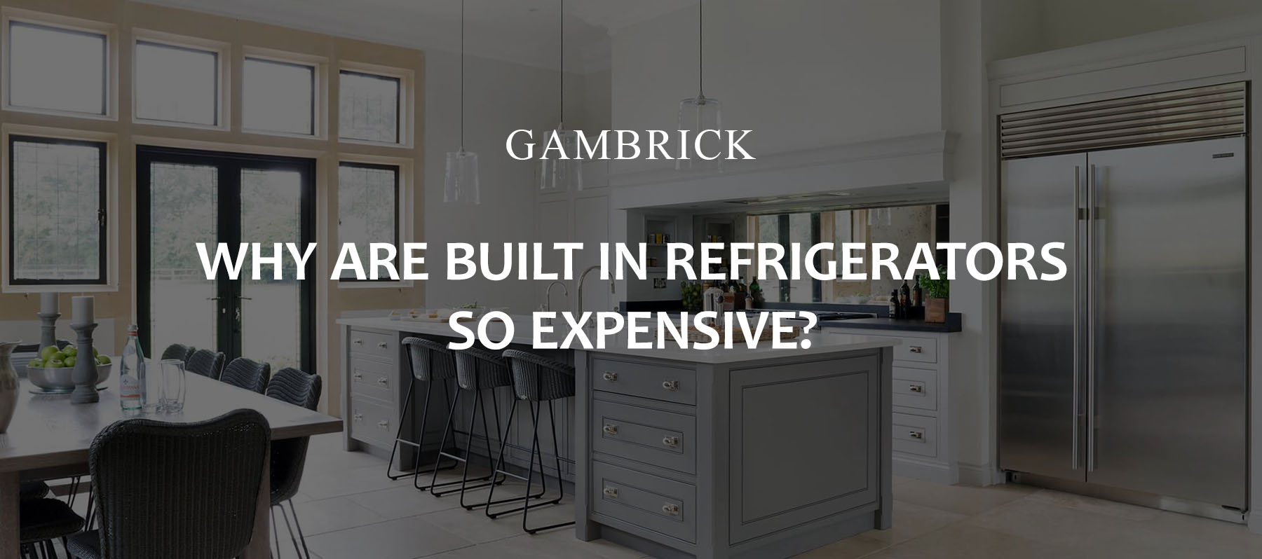 why are built in refrigerators so expensive banner pic | Gambrick