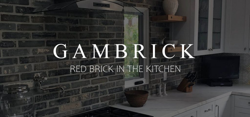 red brick in the kitchen banner pic | Gambrick