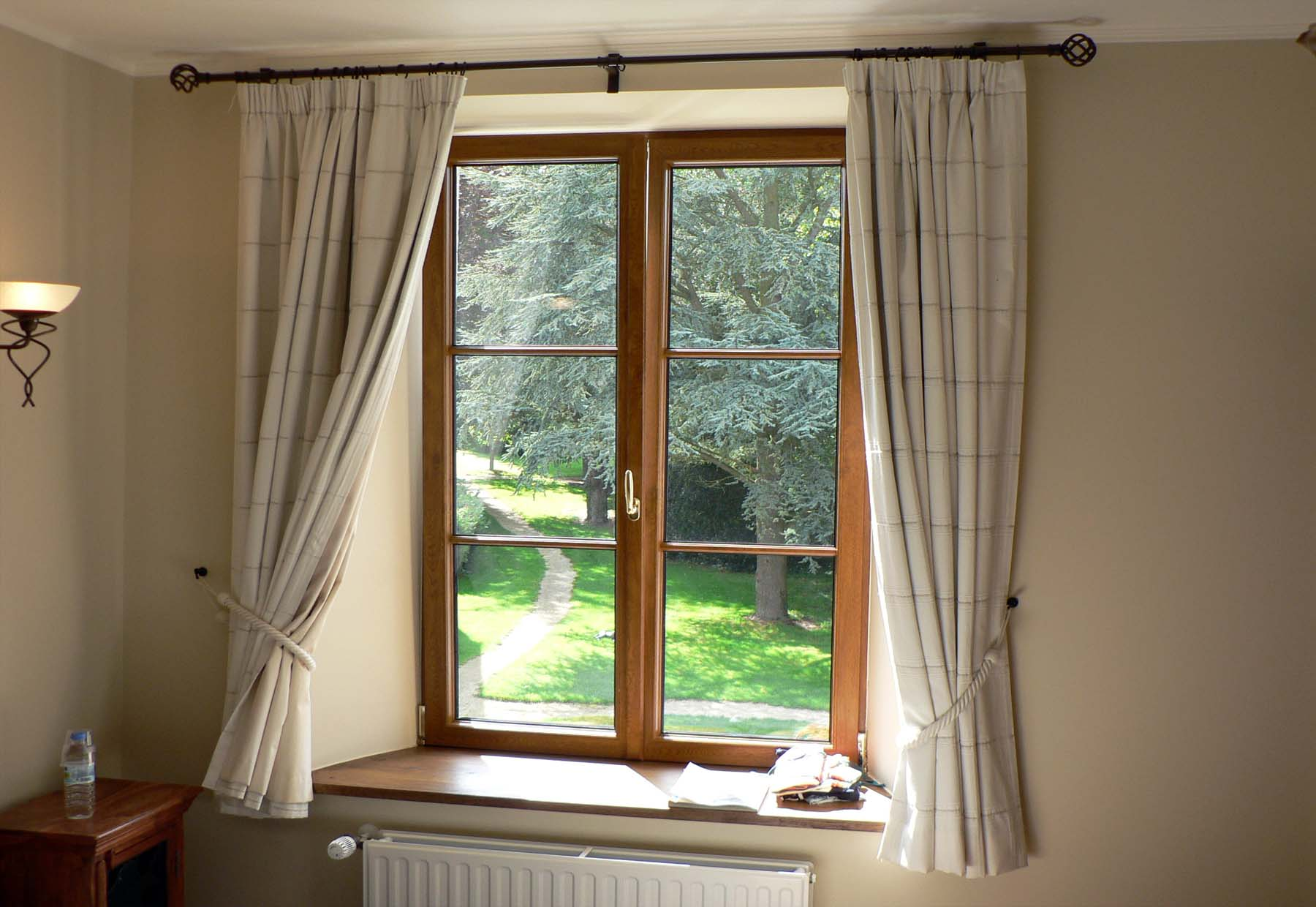 bedroom casement window sealed with soundproofing