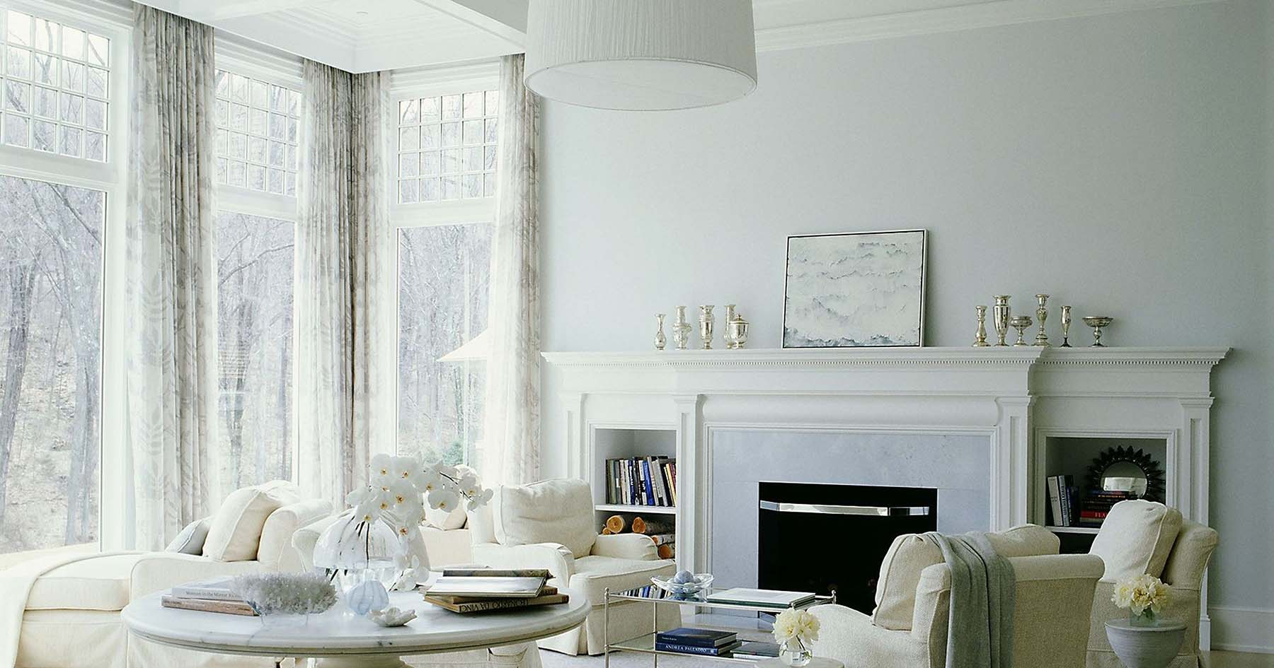 marble foreplace mantel with built in shelving