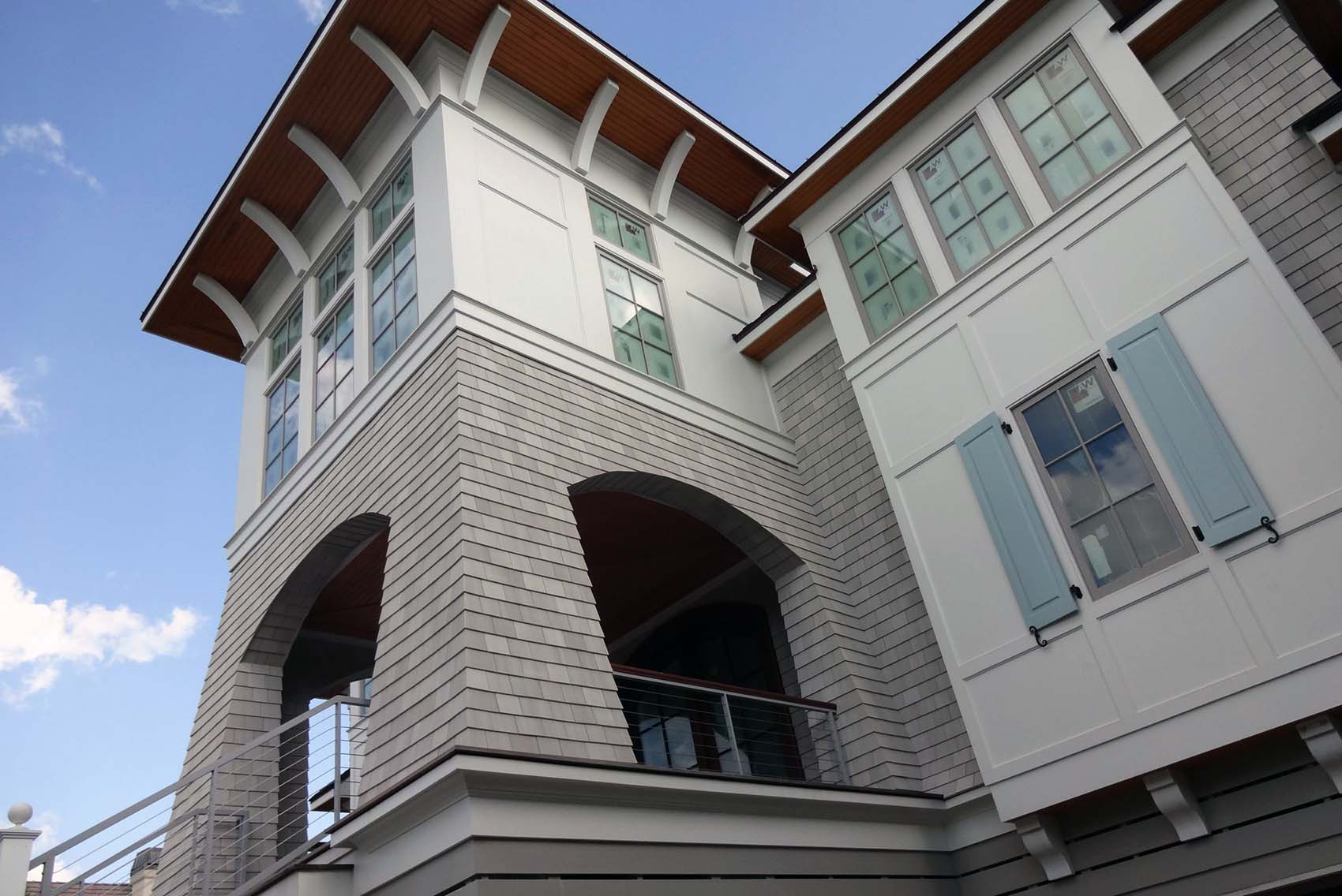 real wood soffits on a custom home