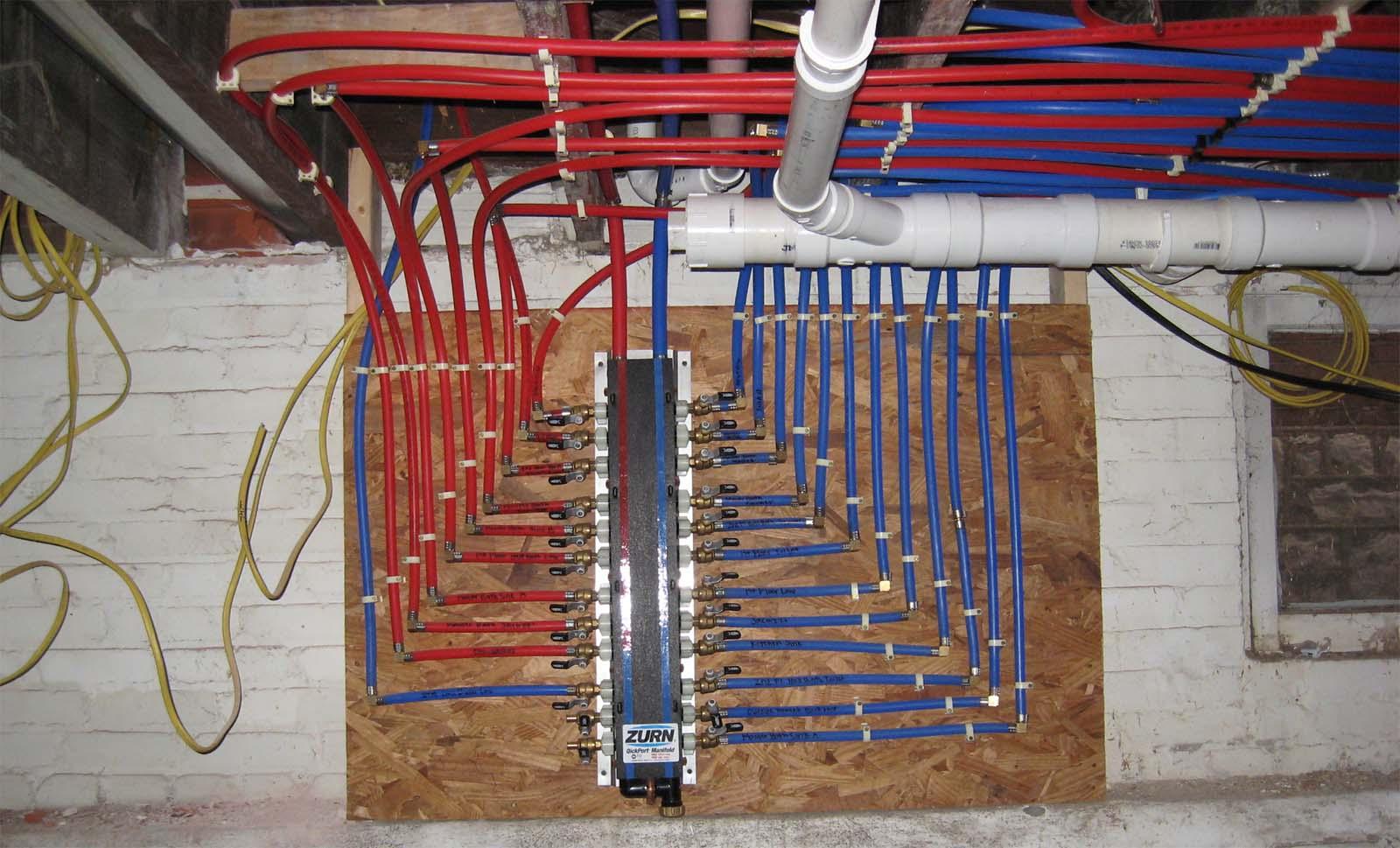 pex manifold plumbing system