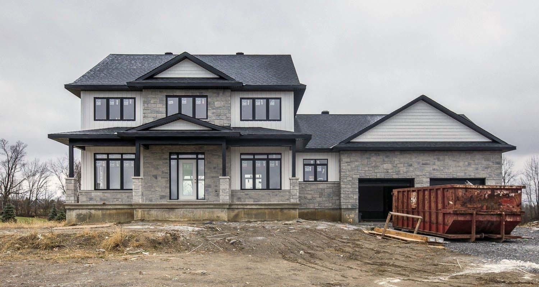 black and gray custom home