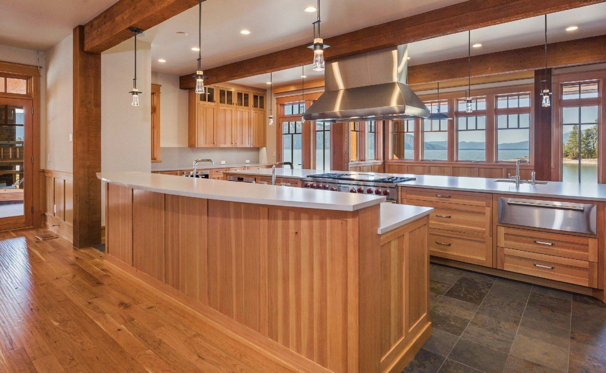 exposed kitchen ceiling beams real wood