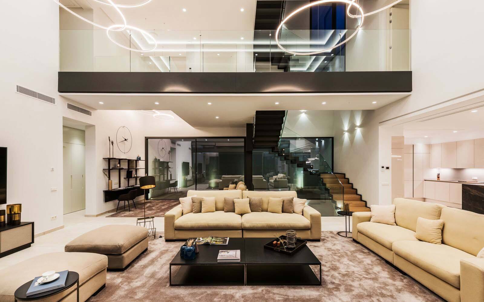 modern staircase design metal glass and wood