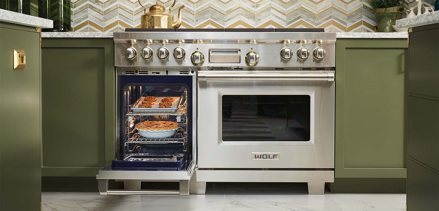 """Wolf dual oven 48"""" range with silver knobs why are wolf ovens so expensive"""