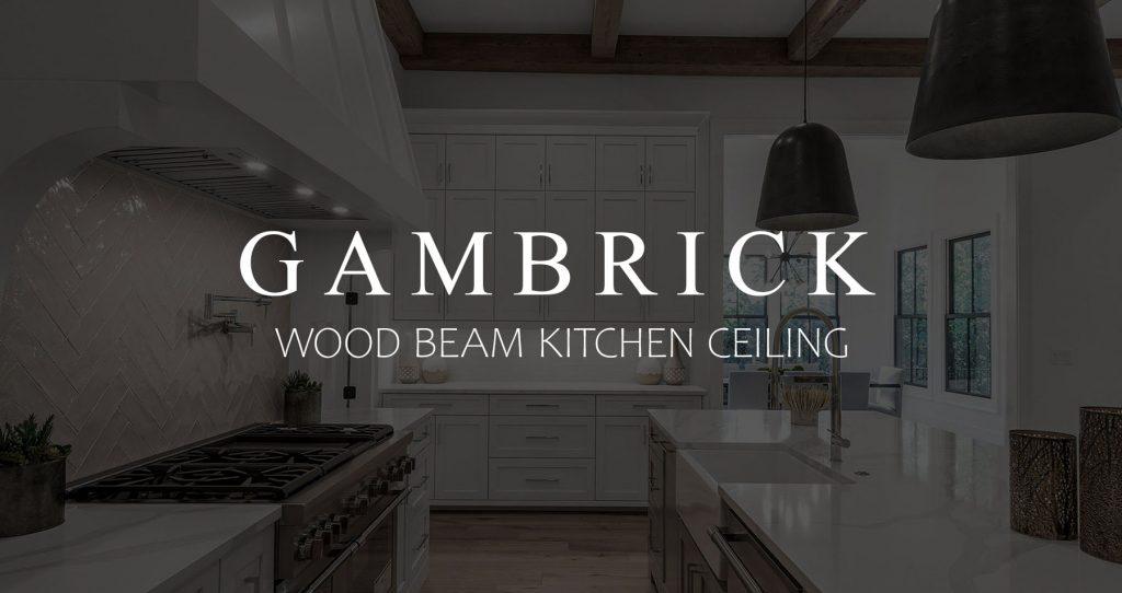 wood beam kitchen ceiling