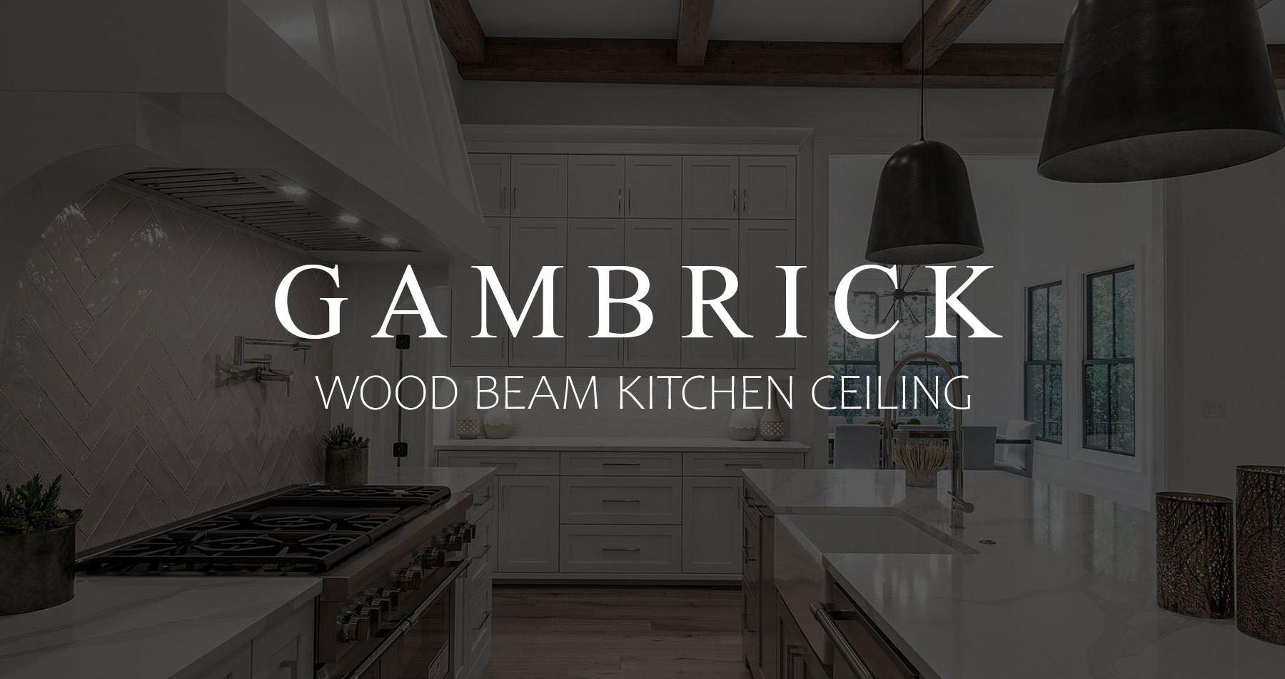 wood beam kitchen ceiling banner pic
