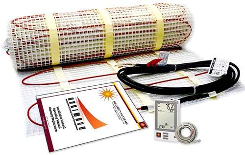electric radiant heat mat system