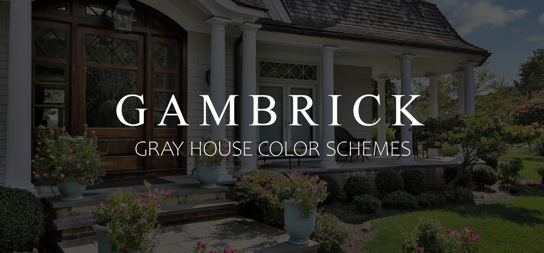Gray House Color Schemes Exterior Siding Color Combinations