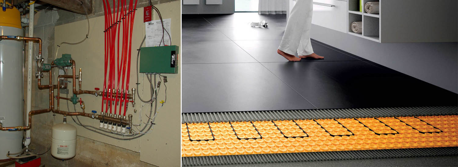 how water radiant floor heating system banner pic
