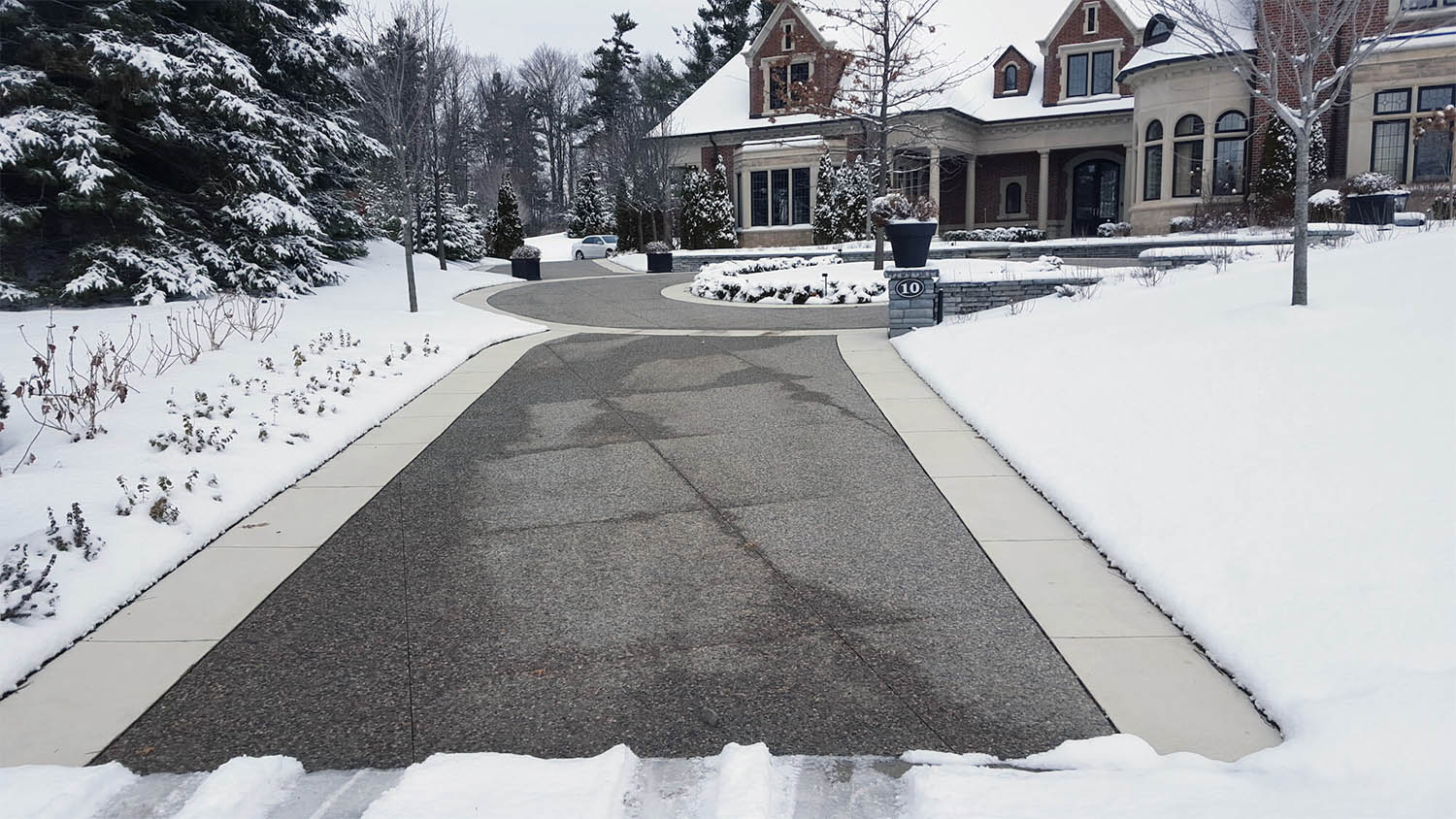 radiant heated driveway