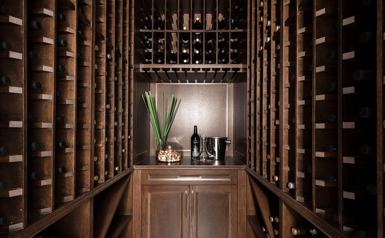 dark wood wine cellar racks with cabinet and shelf individual single bottle racks