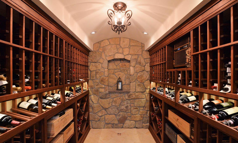 beautiful wine cellar design stone walls wood shelves and racks