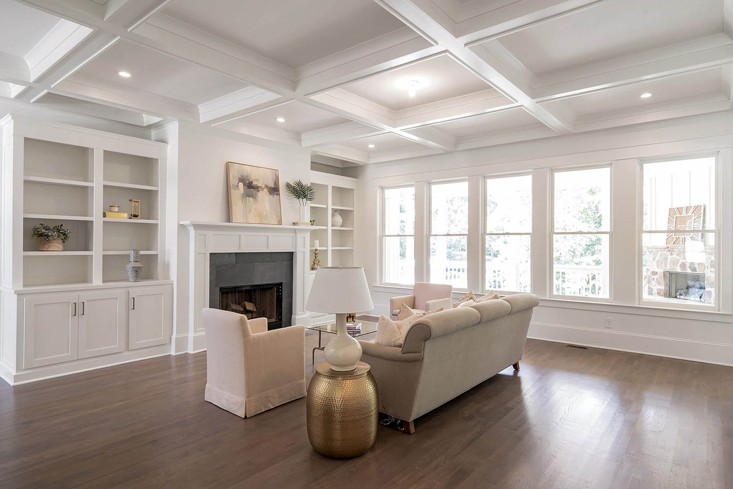 Coffered Ceiling 46 S Top Nj New Home Builder