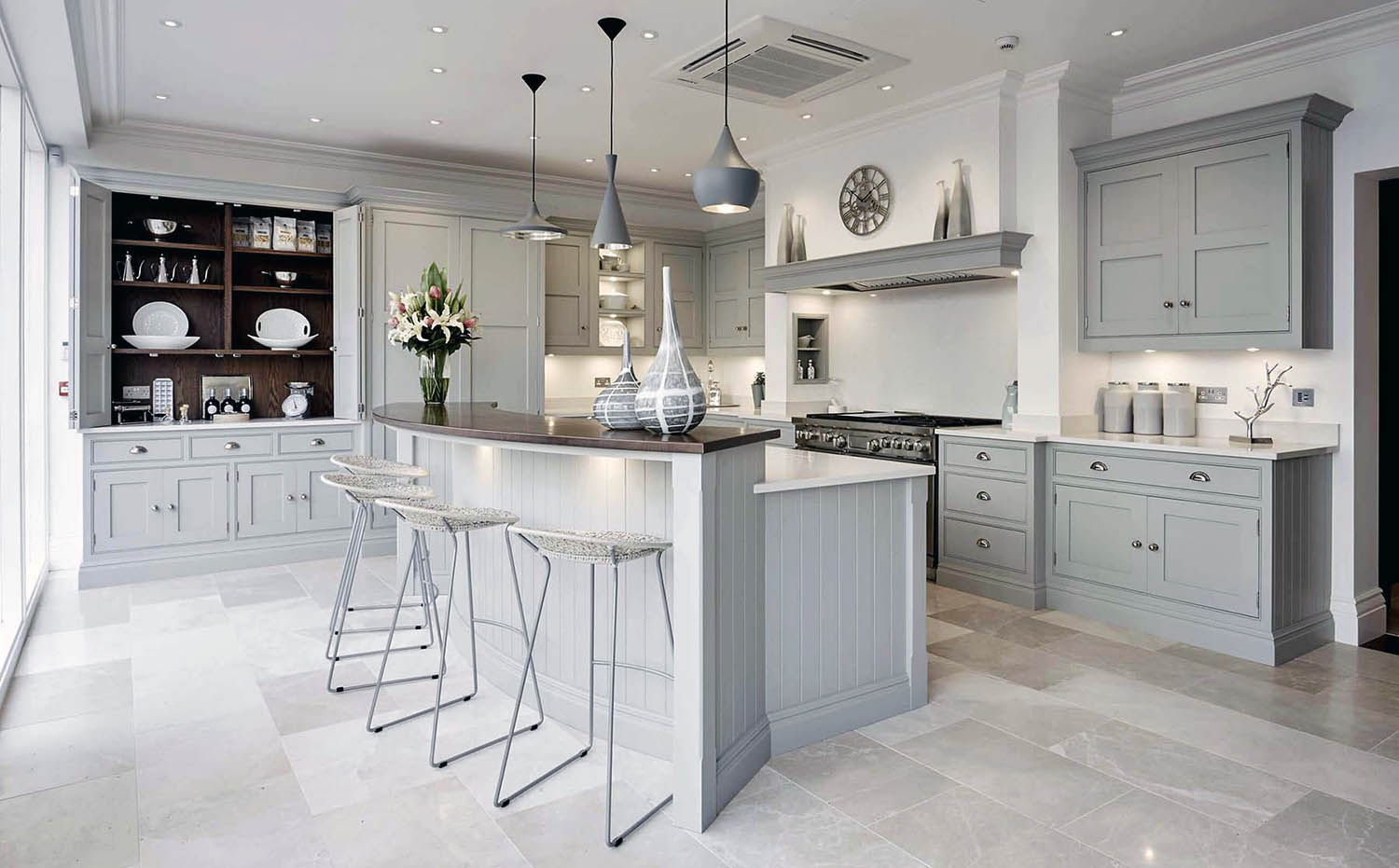 Gray cream kitchen cabinets. Some of the nicest shades of cream are made with a gray base and slight creamy undertone.