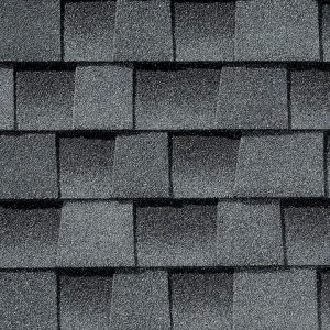 Oyster gray roofing shingle closeup