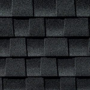 black roofing shingle closeup by GAF