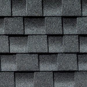 pewter gray roofing shingle closeup