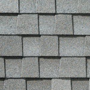 light gray roof shingle closeup